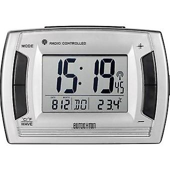 Eurochron RC 236 ラジオ目覚まし時計シルバー、ブラック アラーム 2 回