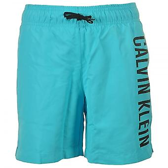 Calvin Klein Boys Intense Power Swim Shorts, Blue Atoll, Medium