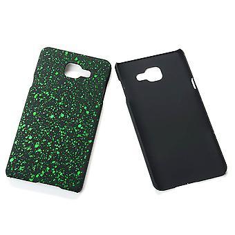 Cell phone cover case bumper shell voor de Samsung Galaxy A7 2016 3D Star groen