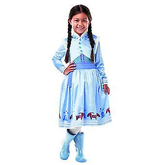 Disney Anna Frozen Olaf´s Adventure Deluxe Kinder Kostüm Kleid Märchen Karneval Prinzessin Eiskönigin Anna und Elsa