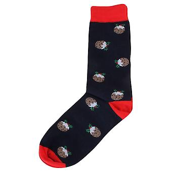 David Van Hagen Pudding-Socken - Marine/rot/braun