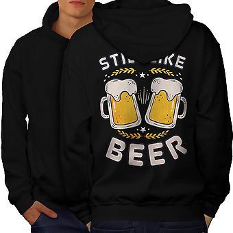 Kuten olut funy Men BlackHoodie Back | Wellcoda, mitä sinä olet?