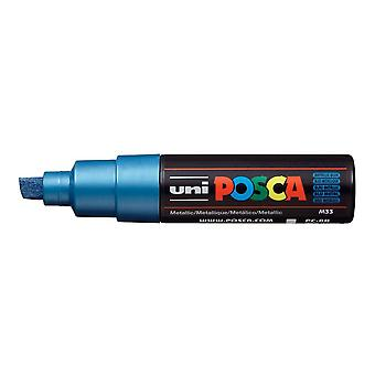 Uni POSCA PC-8K 8mm Chisel Marker Pen - Metallic Blue