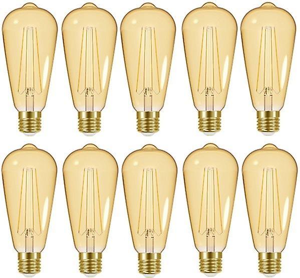 20 X Energizer LED ST64 Energy Saving Lightbulb ES/E27 470lm Warm White[Energy Class A+]