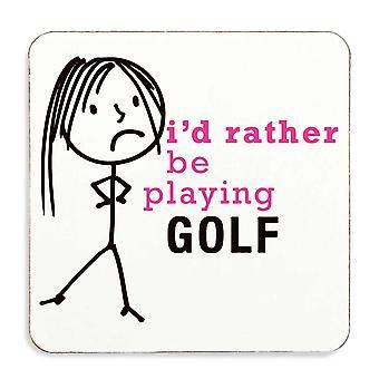 السيدات بدلاً من أن يلعب الغولف كوستر