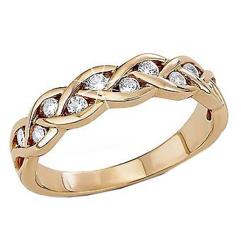 s.Oliver senhoras de joia anel prata 925 Rosé Zirkonia SO1007