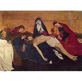 Pieta, Enguerrand Quarton, 50x37cm