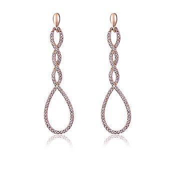 Orphelia Silver 925 Earring Twisted ovalen met Zirkonium - ZO-7459