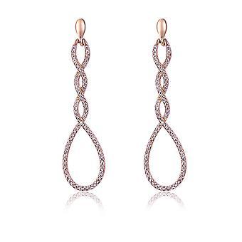 Orphelia sølv 925 ørering Twisted ovaler med zirkonium - ZO-7459