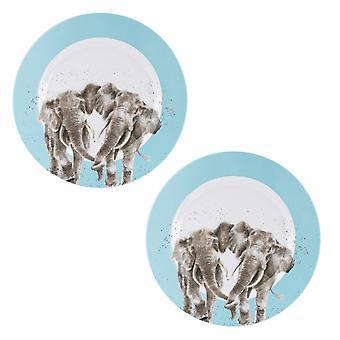 ريندالي التصاميم الفيل مجموعة من لوحات العشاء الميلامين 2