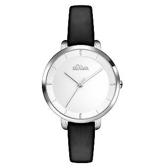 s.Oliver kvinders watch armbåndsur læder SO-3453-LQ
