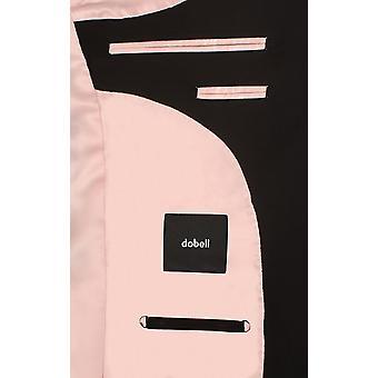 Dobell Mens Black Suit Jacket Slim Fit Travel/Performance Notch Lapel