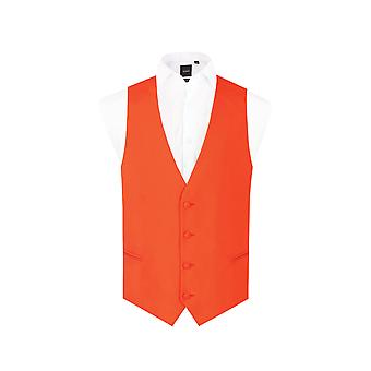 d/Spoke Mens Chilli Red Waistcoat Regular Fit 4 Button Novelty Party