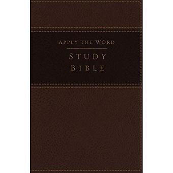 LSG, appliquer le mot Bible d'étude, les gros caractères, les imitations du cuir, Brown, Red Letter Edition