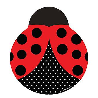 Ladybug Party plate 23cm cardboard plate 8 piece beetle party children's birthday