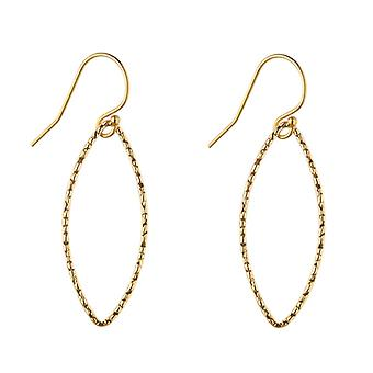 14kt Gold Filled Hammered Oval Earrings (Large)