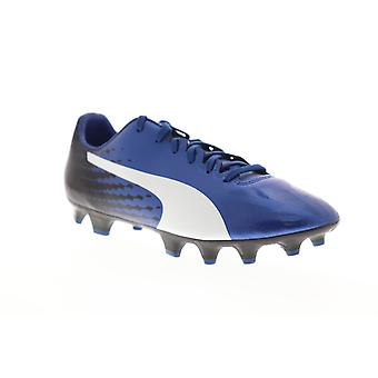 Puma EvoSpeed 17.4 FG  Mens Blue Low Top Athletic Soccer Cleats Shoes