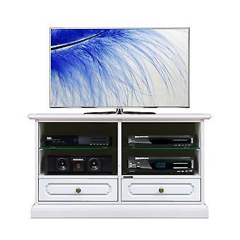 Mobile porta tv laccato con vani e 2 cassetti