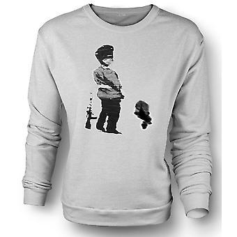 Mens-Sweatshirt-Banksy-Graffiti-Kunst - Soldat