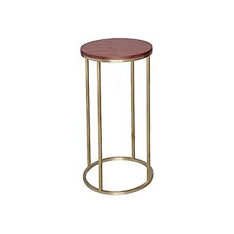 Gillmore Space Noce e Gold Metal Contemporary Circular Tavolo