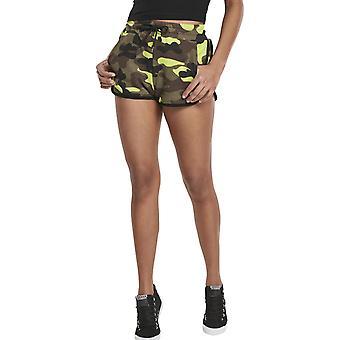 Urban Classics Ladies - Hot Pants Short camo amarillo