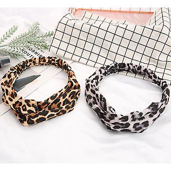 Leopard print twist knot hair band