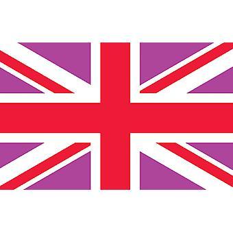 5 pi x 3 pi drapeau - UK - rose et rouge Union Jack