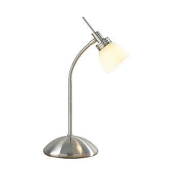 Agean Touch pöytä valaisin Satiini kromi G9 täydellisenä Opal valkoinen lasi