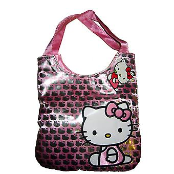 Hand Bag - Hello Kitty - Silver Glittering Sequin New Purse Bag 663626