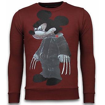 Bad Mouse - Rhinestone Sweater - Bordeaux