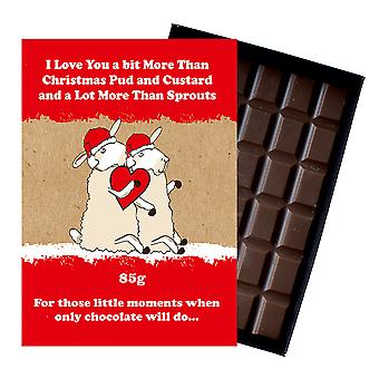 Funny Christmas Gift for Girlfriend Boyfriend Boxed Chocolate Xmas Present for Him or Her XMS119