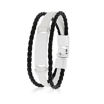 Skipper Bracelet Leather Bracelet Bracelet Bracelet in White/Black 8129