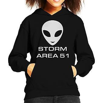 Storm Area 51 Alien Head Kid's Hooded Sweatshirt