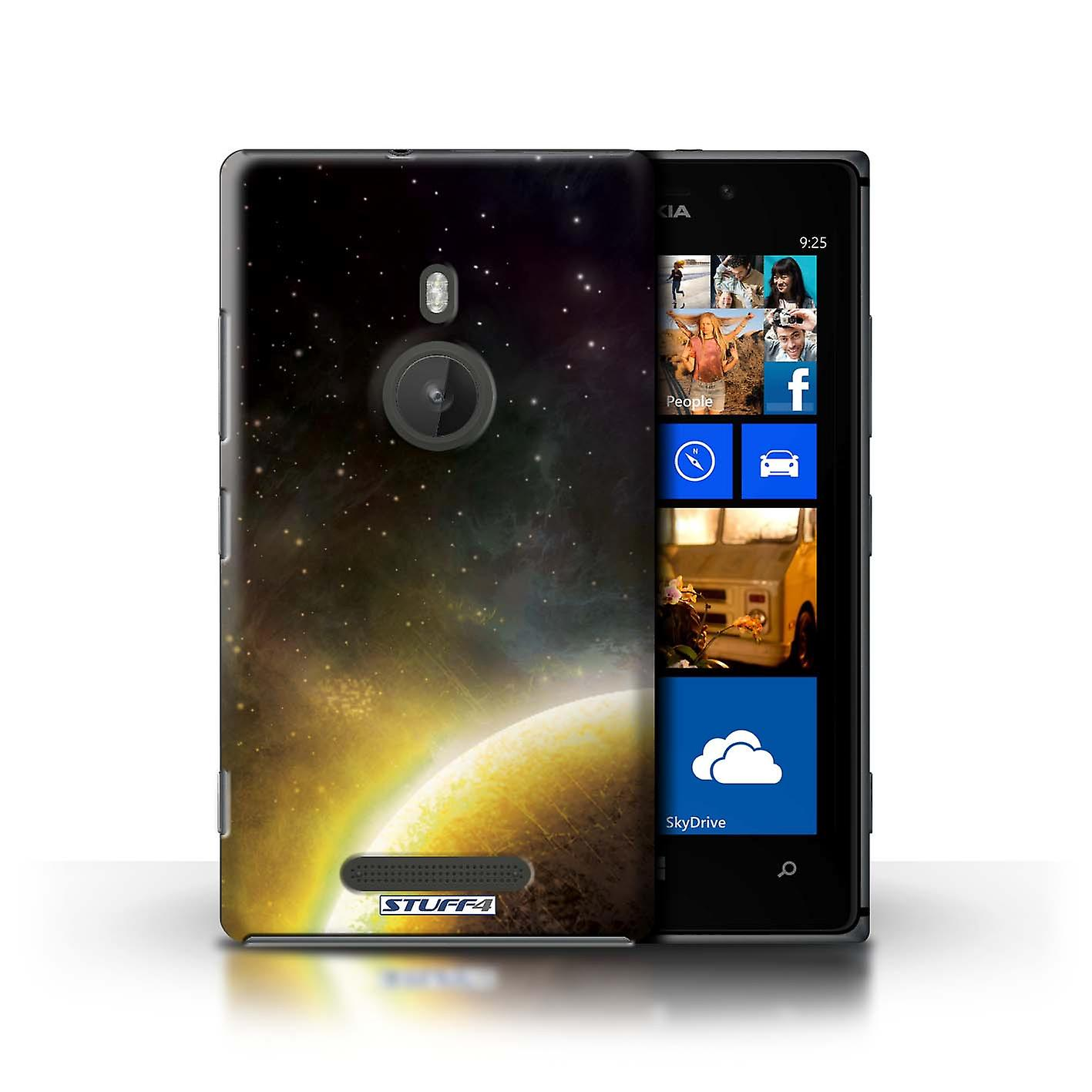 STUFF4 Case/Cover for Nokia Lumia 925/Yellow Planet/Space/Cosmos