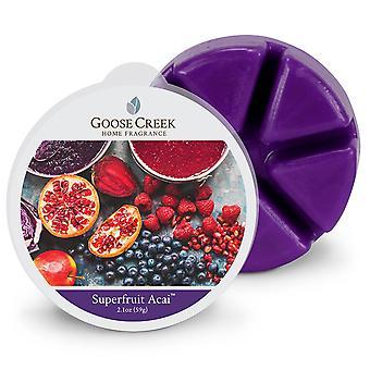 Goose Creek 2.1oz  Breakable Wax Melt Tart for Burners Superfruit Acai