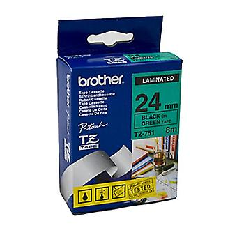Brother TZe751-tarra nauha laminoitu 24 mm