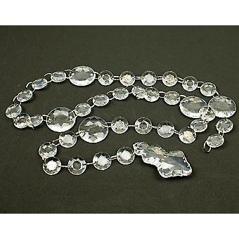 17 mm store klar akryl diamant perle Garland - 100cm - lysekrone anheng