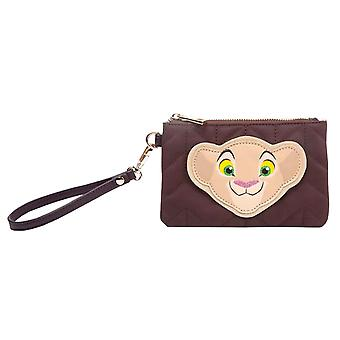 Lion King Purse Pouch Nala Face Logo new Official Disney Brown Pouch