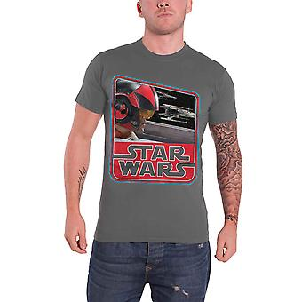 Star Wars camiseta X Wing Fighter Force Awakens Dameron vintage oficial Mens