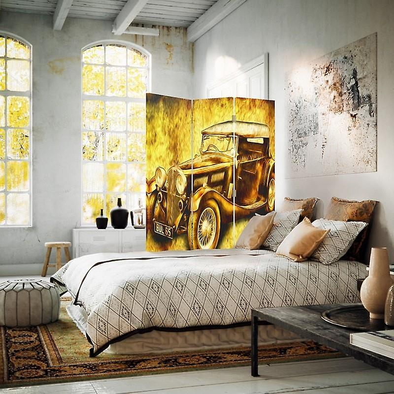 Diviseur de chambre, 3 panneaux, unilatéral, toile, auto rétro