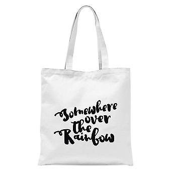 Somewhere Over The Rainbow Tote Bag - White