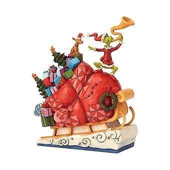 Dr. Seuss Der Grinch auf Schlittenfigur
