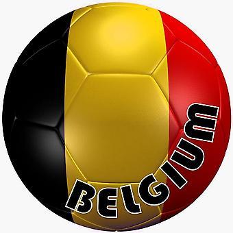 Autocolant Aufkleber Team Auto Moto Fußball Flagge Ballon Fußball Belgien