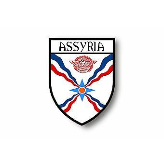 Tarra tarra moottori pyörä auton Blason kaupungin lippu Assyria Assyrian