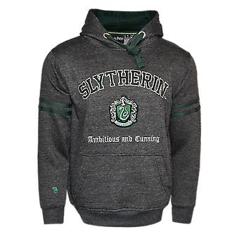 Licensed unisex slytherin™ hooded sweatshirt-charcoal harry potter™