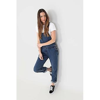 Womens regular fit denim salopette