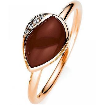 Gemstone Ring Diamonds 0.02 ct. Moonstone 1.48 ct. Size 54