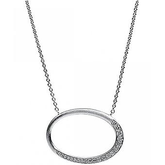 Diamond Collier Collier - Oval - 14K 585/- White Gold - 0.19 ct.