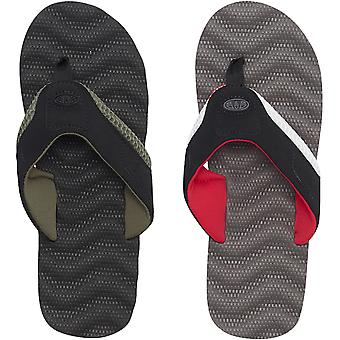 Animal Mens Jekyl Ripple Casual Summer Slip On Beach Holiday Sandals Flip Flops