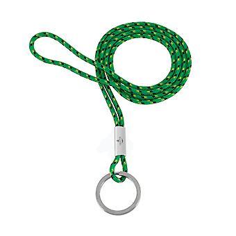Llavero colgante Skipper collar nylon/acero inoxidable verde 8303